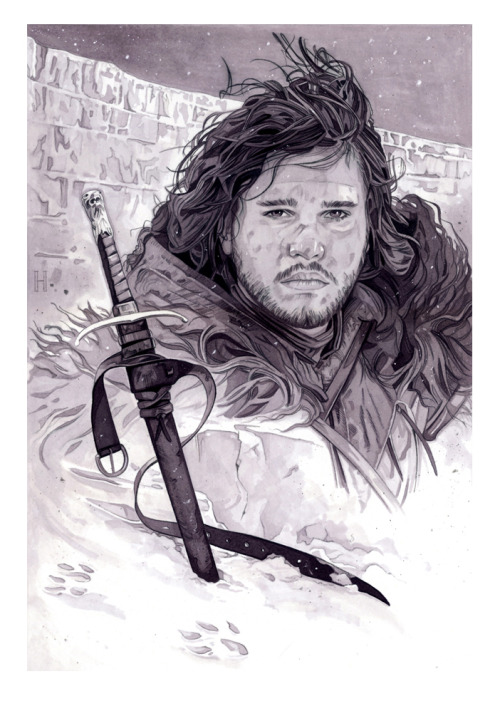 Game of Thrones Jon Snow and Longclaw Private commission for a client www.roberthendrickson.net