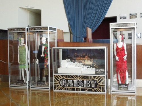 Original costumes and production model from The Great Gatsby on display at ArcLight Hollywood cinema: http://hollywoodmoviecostumesandprops.blogspot.com/2013/05/the-great-gatsby-movie-costumes-on.html