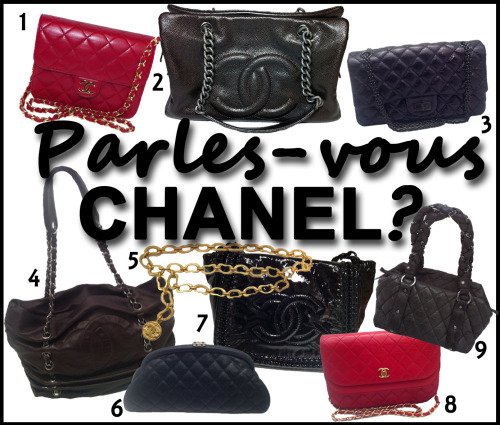 PARLEZ-VOUS CHANEL? Click the Links to Shop the Collection at MTYCI: 1. CHANEL Mini Flap Bag: Red  2. CHANEL Patent Caviar Tote: Bronze  3. CHANEL Reissue Accordion Flap Bag  4. CHANEL Chocolate Chain Tote  5. CHANEL Chain Belt with CC Charm  6. CHANEL Timeless Clutch  7. CHANEL Patent Leather CC Shoulder Bag  8. CHANEL Rare Red Double Flap Bag  9. CHANEL Petite Bowling Handbag