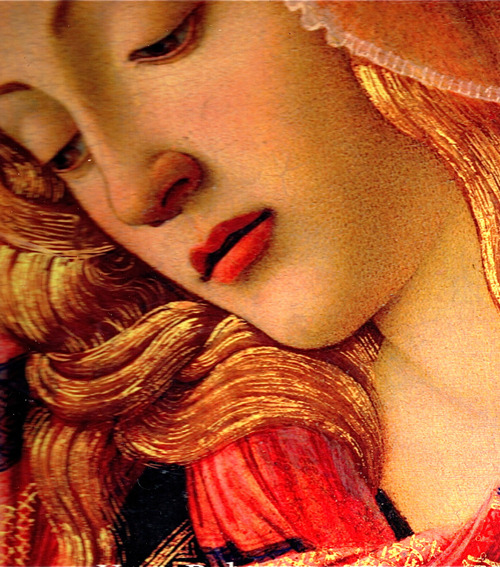 c0ssette:  The Madonna of the Magnificat, Detail of the Virgin's face,1482.Sandro Botticelli.
