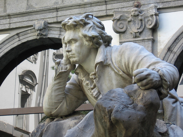 leadingtone:  Statue of Beethoven at the Conservatory of San Pietro Majella, Naples.