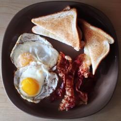 food bacon eggs breakfast instagram foodporn sundaymorning