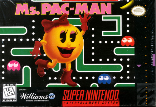 Ms. Pac-Man, SNES.