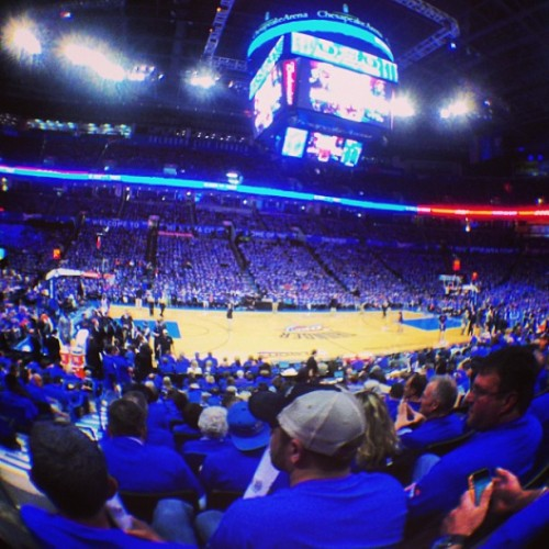 #wearethunder (at Chesapeake Energy Arena)