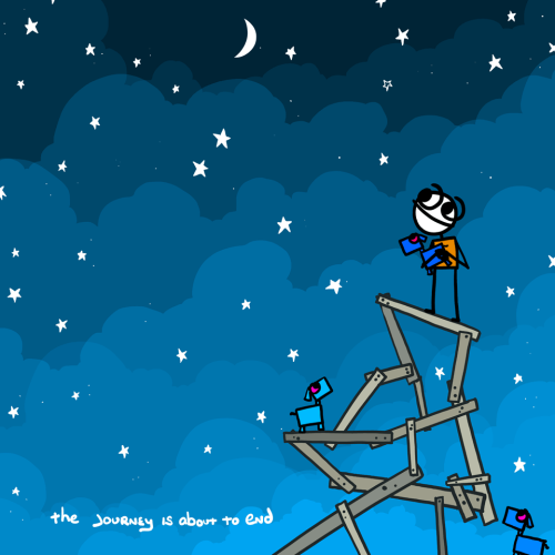 explodingdog:  The journey is about to end from the Explodingdog.com archives.