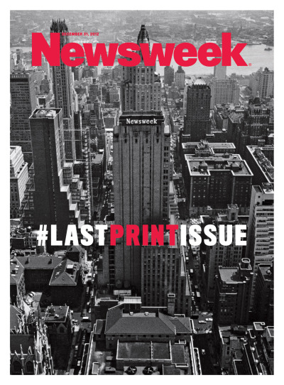 newsweek:  Here's the cover of this week's Newsweek, the last print issue before we go all-digital in 2013. Yup, it's a hashtag. Use it!  Never was a monument so accurately yet unflatteringly built.