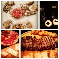 Our #NYE #smorgasbord #dinner. We're so fortunate and #lucky to be able to #indulge like this. Thank your for an incredible #2012 and can't wait for an even better #2013. #HappyNewYear