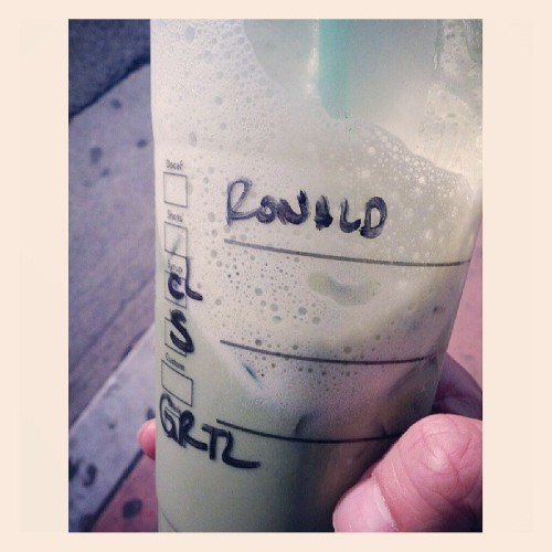 This tastes alright. #greentea #latte #Starbucks