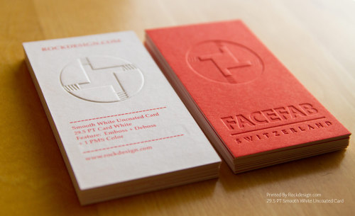 Awesome emboss business cards printed by rockdesign.com