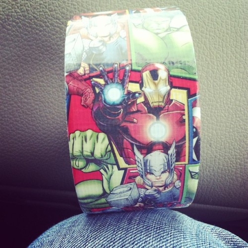 Got some snazzy duck tape for my game today! #avengers