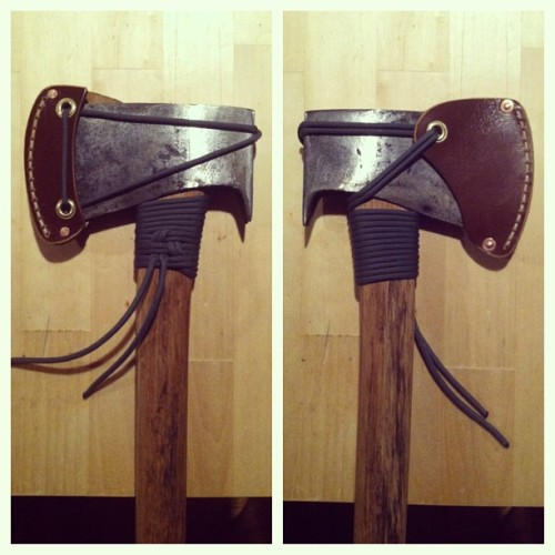 Sheath I made for my tommy axe. #sheath #tommyaxe #truetemper #handmade