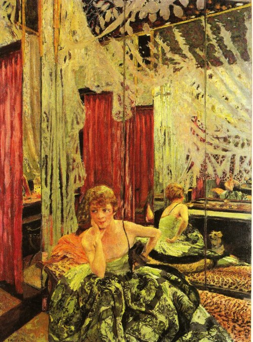 showmethe-monet:  Edouard Vuillard Portrait of Jane Redouart 1927
