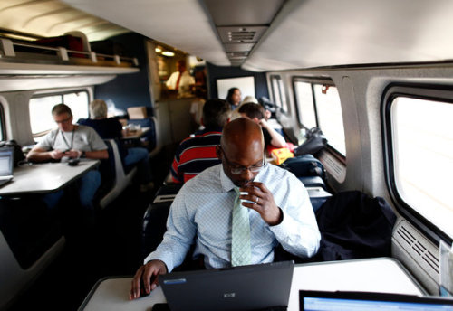 laughingsquid:  Amtrak Upgrades Wi-Fi Service on Trains