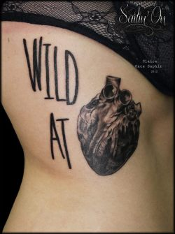 sailinon-tattoos:  Wild at Heart Tattoo by Claire Once Saphir Sailin'on tattoos Marseille, France
