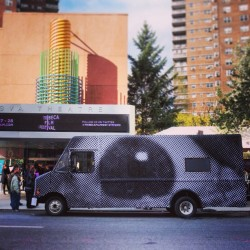 @jr's Inside Out mobile photobooth stopped by @tribecaFilmFest yesterday. Lookout for it @ the Rockaways today!