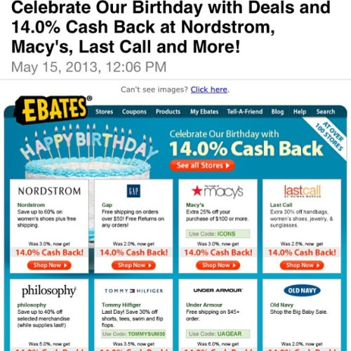 #Ebates is having 14% cash back at 100 stores for their birthday! I finally bought my #michaelkors watch from #nordstrom since its 14% cash back.  Earn mobey for shopping online!  💵Ebates link is on my IG profile:  http://www.ebates.com/rf.do?referrerid=K9qgxeU2pBzrMCfC3NvKfg%3D%3D