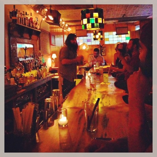 Down the bar at the newly opened Dynaco. #bedstuy  (at Dynaco)