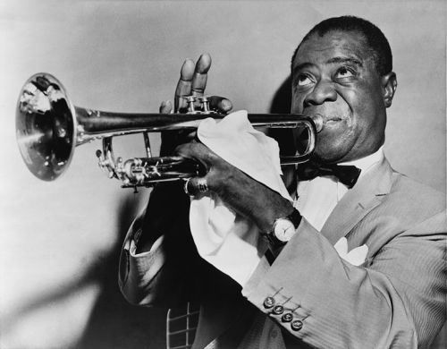 """Louis Armstrong is jazz. He represents what the music is all about."" — Wynton Marsalis (http://to.pbs.org/aT7KwI)Happy Black History Month!"
