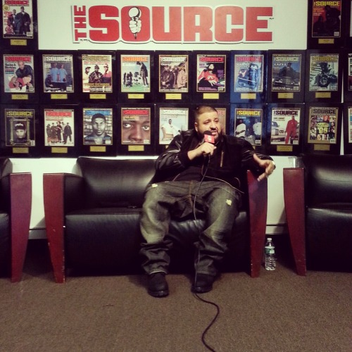 Dj Khalid up at The Source #AllIDoIsWin @TheRealDJKhaled #WeDaBest @TheSourceMag x@TheSource #hiphop #music #producer @YMCMB_4Life