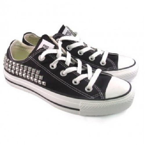 #musthaves #custom #studded #converse sold at #whatgoesaroundnyc.com for $175 #fashion #style #glam #swag #swagger #fashionphases.com