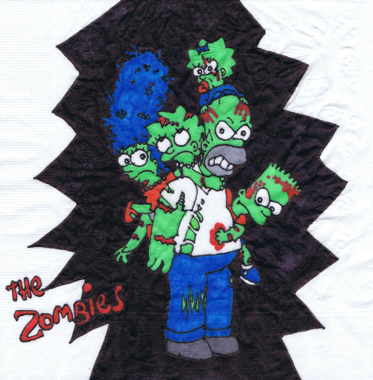 """The Zombies!""  New napkin art."