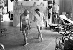 georgettecrimson:  Portrait of Picasso learning Ballet