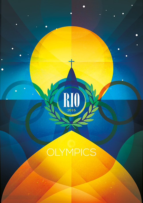 visualgraphic:  RIO Olympics Poster By Rob Nichols