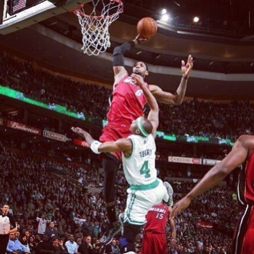 hoopmixtape:  LeBron James #hoopmixtaped Jason Terry! Heat on 23 game win streak!  Video on #hoopmixtape