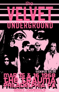 love happy music rock Concert Grunge happiness Lou Reed Andy Warhol 1968 underground tickets velvet underground the velvet underground