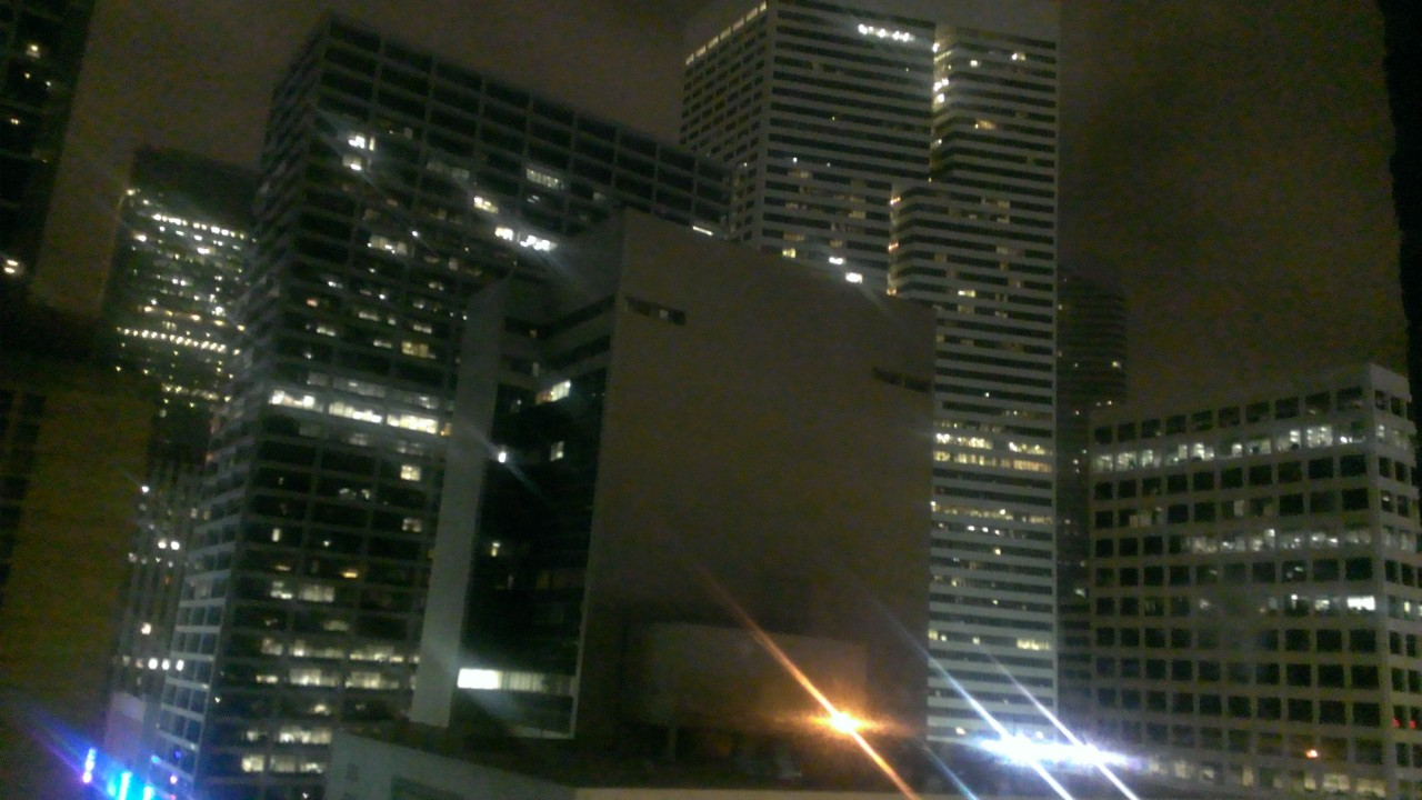 Downtown Houston from our hotel room.
