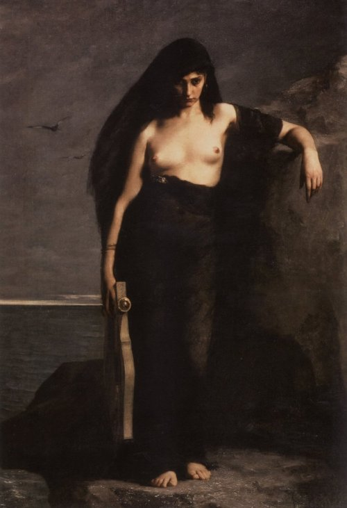 sponsoredbyevanwilliams:  charles-august mengin, sappho, 1877