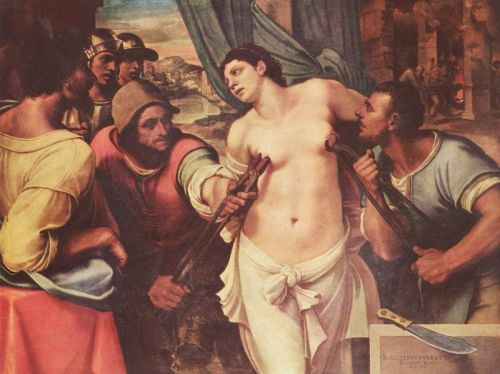 The Martyrdom of St. Agatha, 1520; by Sebastian del Piombo
