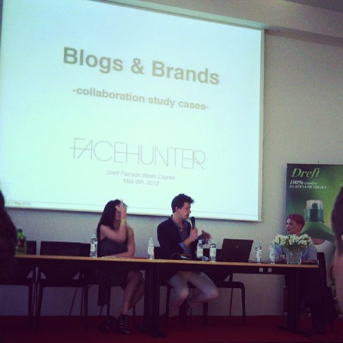 Today I attended blogger conference with one famous fashion guest - Yvan Rodic, so-called Face Hunter, Swiss-born street fashion photographer  living in London. It's a nice change to meet someone who is actually relevant in fashion world, even though conference wasn't as interesting as it could have been.