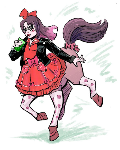 theartofem:  I wanted to participate in Draw a Centaur Day!So have a sassy little punk lolita centaur!  That's right everyone! It's Draw A Centaur Day!