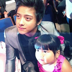 Dj, Kath, and Juls with Ryzza Mae at the Guillermo Awards~ Spell P-R-E-C-I-O-U-S! :')