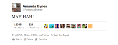 po-op:  this tweet alone has restored my faith in Amanda Bynes.