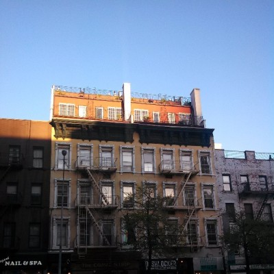 """I think I'll throw a few more apts on top of my buildings."" -NYC Landlords after WWII. #ny #architecture #postwar #ues (at The Comic Strip)"