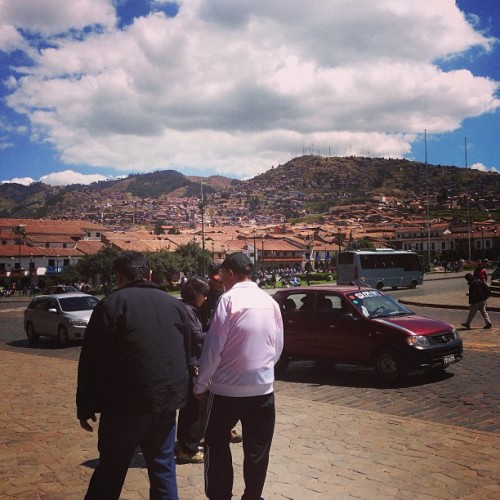 Father and son in Cusco 😊😊😊 (at Cusco, Peru)