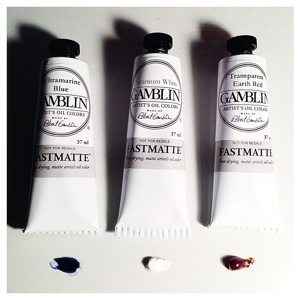 We're excited to be trying out @gamblincolors new series of Fastmatte fast drying (24hours) matte artist oil colors!  These work like a charm and are ready to be layered by the next day! #gamblin #fastmatte #gamblincolors #oilpaint #oil #painting #paint #art #artist #enpleinair