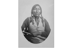 Guipago (Lone Wolf) a Kiowa Chief. Refused to sign the Medicine Lodge Treaty. From the National Archives.