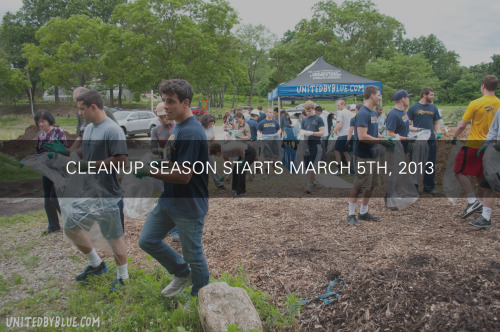United By Blue's Third Annual Schuylkill River Spring Cleanup We've gathered quite the collection of trash at Bartram's Garden over the past three years, but the first cleanup of the season always has the biggest haul (and weirdest trash). During our 2011 and 2012 cleanup season openers, we pulled a total of 2,102 pounds out of trash from the Schuylkill River. Learn more.