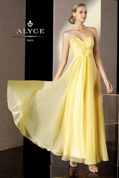 This yellow long Alyce 35500 gown is fabulous! We knew that you were looking to shine for prom and we knew that with this sweetheart bodice of a dress; you would achieve it. Alyce 35500 does wonders when you walk into a dark lit room. It does even more wonders when you're walking in like the sun and your presence is known to everyone on the floor tonight. Do I recommend Alyce 35500 gown? Absolutely! There is no doubt that this is the gown you need! Click here for more information on Alyce 35500 from Jan's Boutique. If you love this dress definitely Reblog :)
