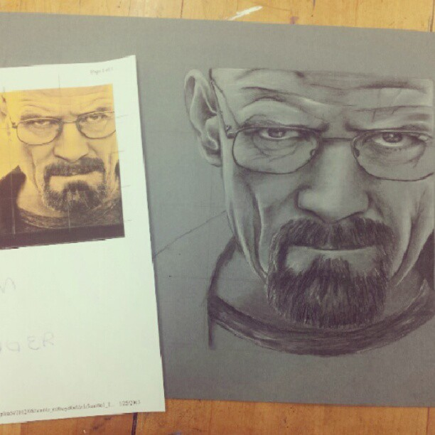 #progress #heisenberg #breakingbad #charcoal #art #poop