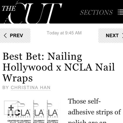"""Best Bet"" says @NYmag @thecut #christinahan about  @shopncla x @nailinghollywood #nailwrap #collab. Get yours today $16 www.shopncla.com #nclaxnailinghollywood"