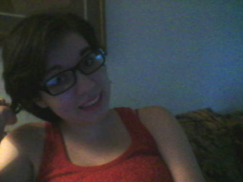 neeeeewww glasses! ignore my superhero-esque hairdo and wicked italian eyebrows I'VE HAD A ROUGH WEEK