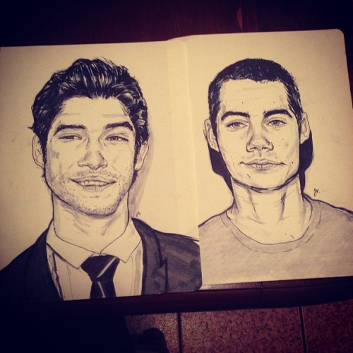 Teen Wolf sketches for my sister from the same mister because she says I never draw her anything lol