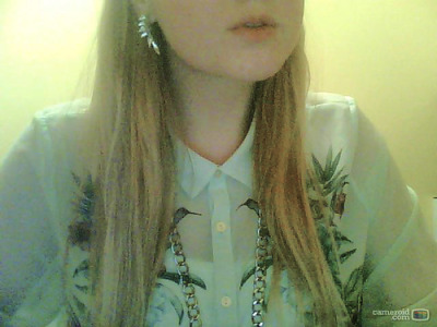 favourite earrings, necklace and shirt