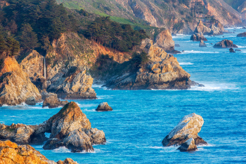 McWay Falls and Big Sur Coastline in California. See things to do along the Big Sur coastline at http://tripbucket.com/s/BXAFswke.Photo by Doug Meek