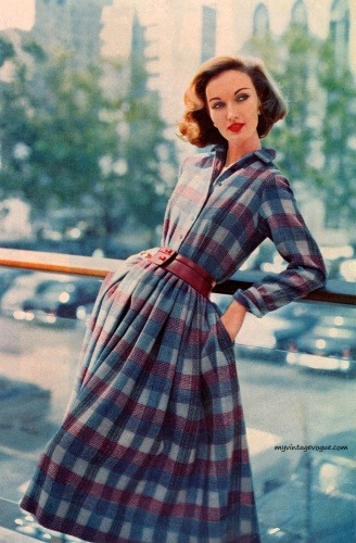 vintage-fashionista:  Evelyn Tripp » Ladies Home Journal October 1957