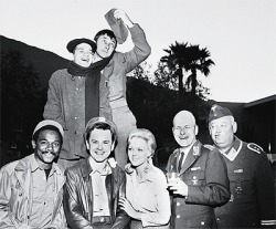 hhhaskilledmybrain:  the-7th-tutor:  The Hogan's Heroes cast at the Spa Hotel, 1967.  I have never seen this picture before. I love Richard Dawson's face in this.  Absolutely wonderful.  Ugh I'll love the poster forever for putting this up.  LOVE IT.  Robert Clary and Richard, though. I am also eternally grateful for this photo.